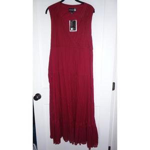 Anthony Red Sleeveless Dress Large NEW